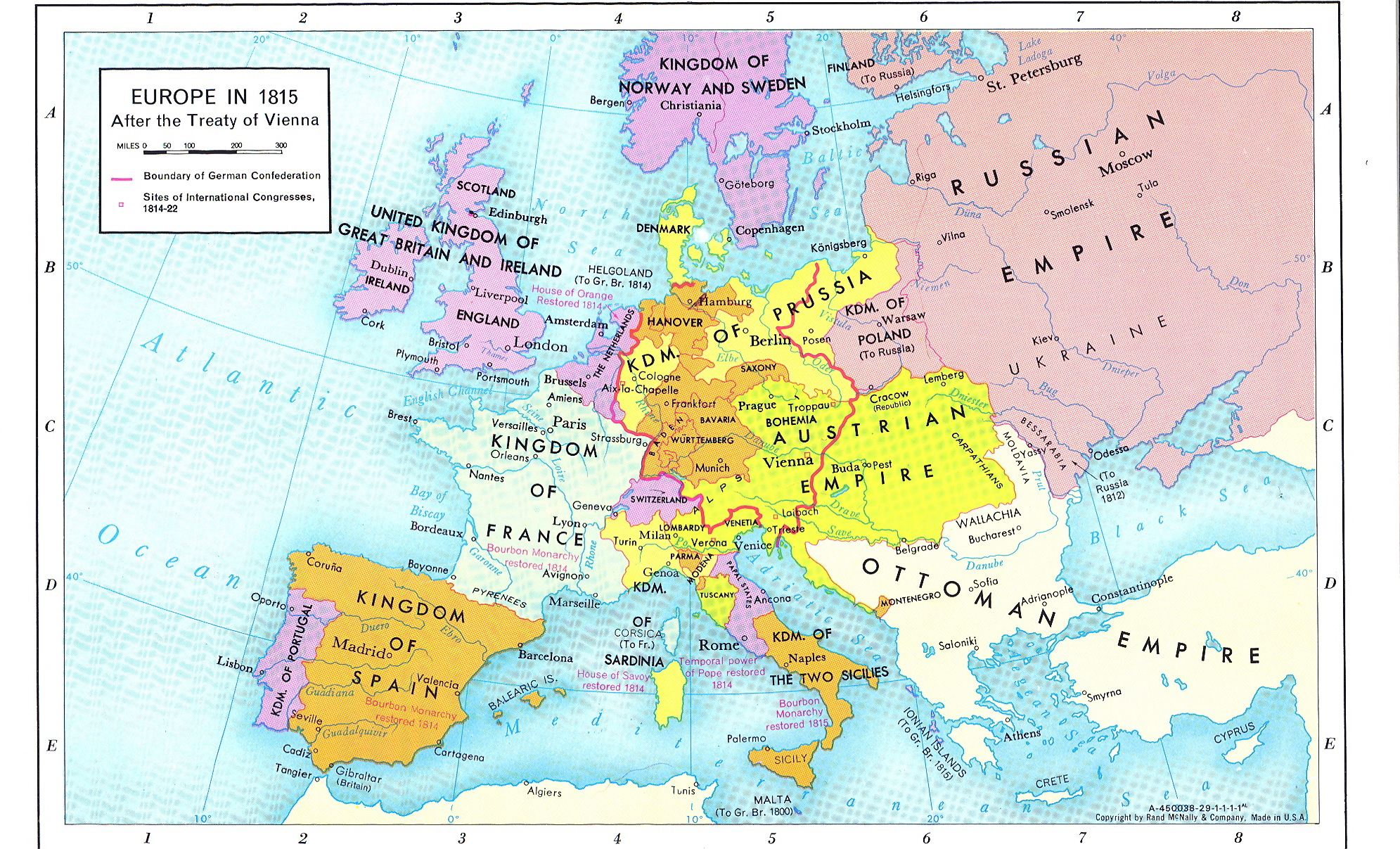 Map Of Europe 1815 Thefreebiedepot
